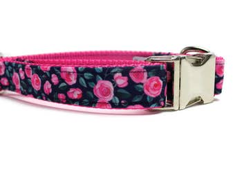 Canvas Dog Collar   Metal Buckle Dog Collar   Pink Dog Collar   Girl Dog Collar   Floral Dog Collar   Navy Dog Collar   Strong Dog Collar