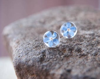 Forget me not earrings ⇷10mm⇸ stud earrings | Forget-me-not flower earrings | Blue stud earring | Blue wedding jewelry | Forgetmenot flowers
