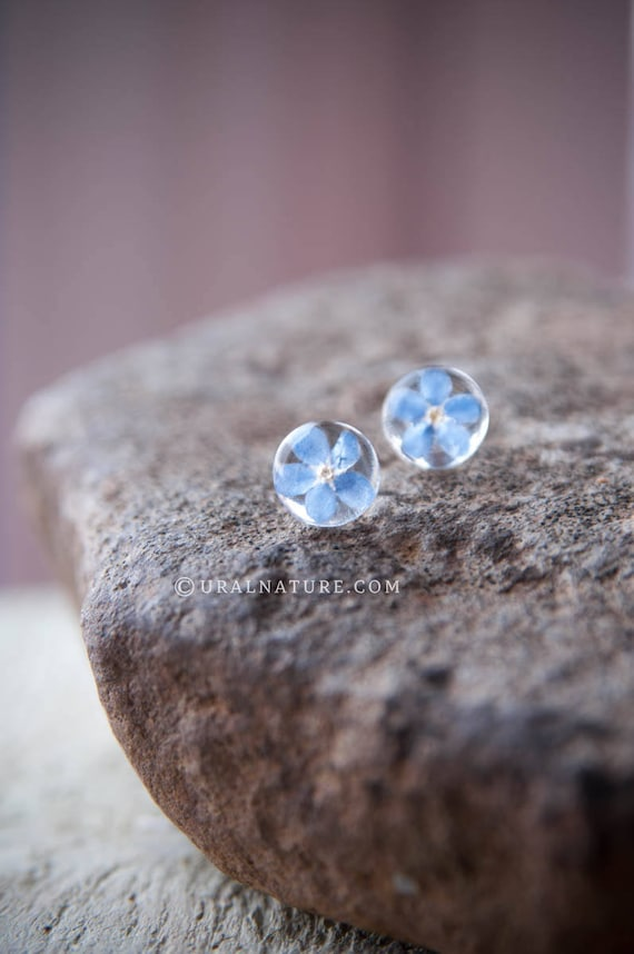 Forget Me Not Earrings 10mm Stud Earrings Forget Me Not