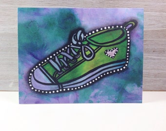 Sneaker - Blank Greeting Card - Any Occasion