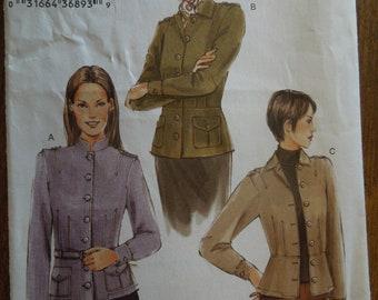 Vogue 7764, sizes 6-10, misses, petite, unlined jacket, UNCUT sewing pattern