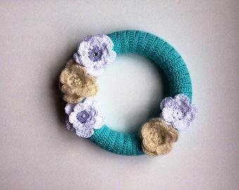Front Door Wreath, All Season Wreath, Crochet Home Decor, Wall Hanging