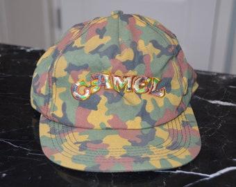 Vintage 1990's Camel Cigarettes Camo Snapback Hat!!!