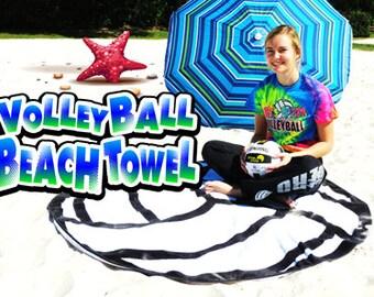 Round Volleyball Beach Towel
