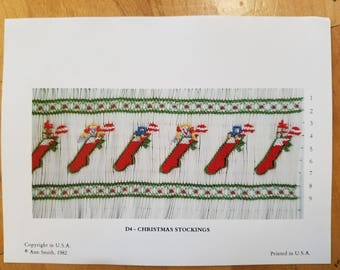 Christmas Stockings smocking design by Ann Smith