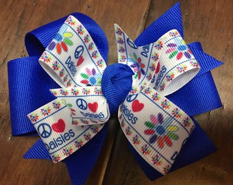 Girl Scouts Daisy Scout Double Stacked Pinwheel Boutique Hair Bow Toddler
