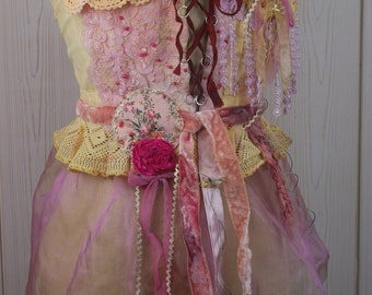 "Very Romantic Corset ""Angelina"", Art to wear, Unique, Beautiful and feminine"