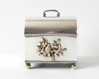 English St James House Co Sterling Silver Limited Edition Music Box Which Plays The Twelve Days Of Christmas 99/500