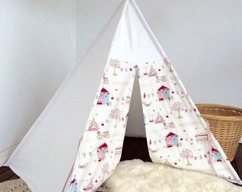 Teepee -Summer Holiday - Pink/Green Colourway