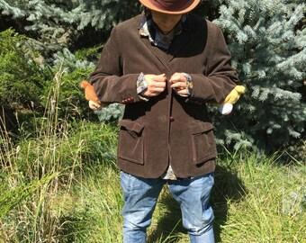 Teddy bear corduroy jacket!