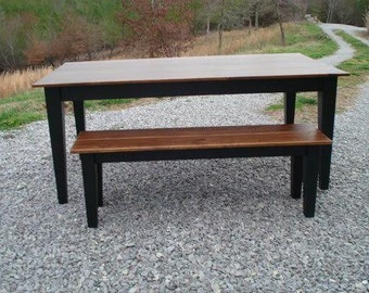 Farmhouse Table, Black Dining Tables, Rustic Kitchen Tables, Solid Wood  Tables