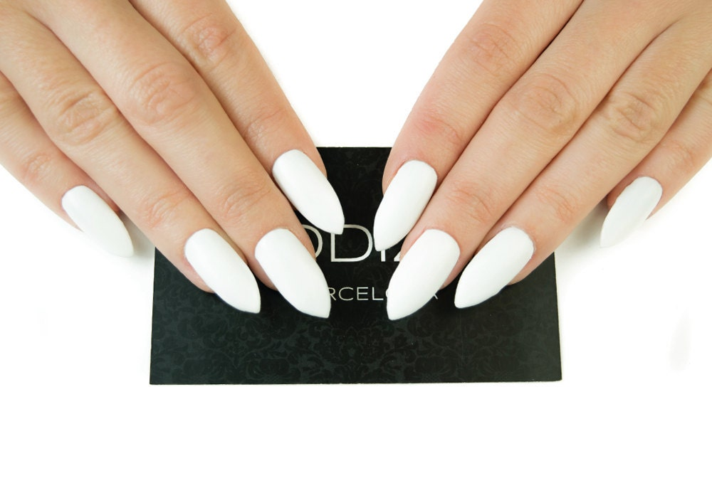 White Matte UV Gel Nails Set Fake Nails Press On Nails
