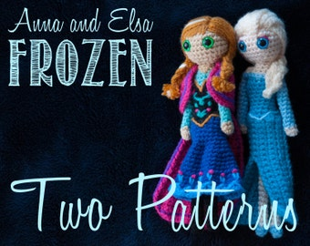Anna and Elsa (Frozen) Amigurumi Crochet Patterns