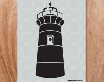 Lighthouse Stencil- Reusable Craft & DIY Stencils- S1_01_155 -8.5x11- By Stencil1