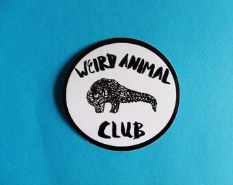 Weird Animal Club Vinyl Sticker