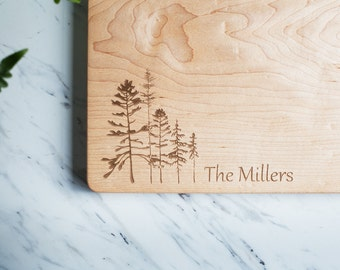 Custom Engraved Wood Cutting Board - Maple Cutting Board, Personalized Cutting Board, One Inch Thick Chopping Block - FREE CARE KIT