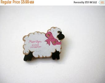 ON SALE Vintage Thicker Wooden Sheep Pin 9617
