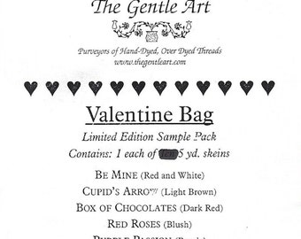 The Gentle Art - Limited Edition - Valentine Bag - One Each of Six Colors - Five Yard Skeins