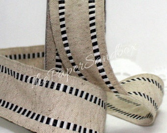 """Wired Black & White Check No Shed Burlap Ribbon, 1.5"""" wide by the yard"""