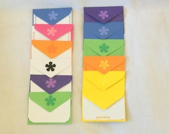 Rainbow stationery set, colored stationary set, writing paper and envelopes, colored envelopes, colored writing paper, colorful stationery