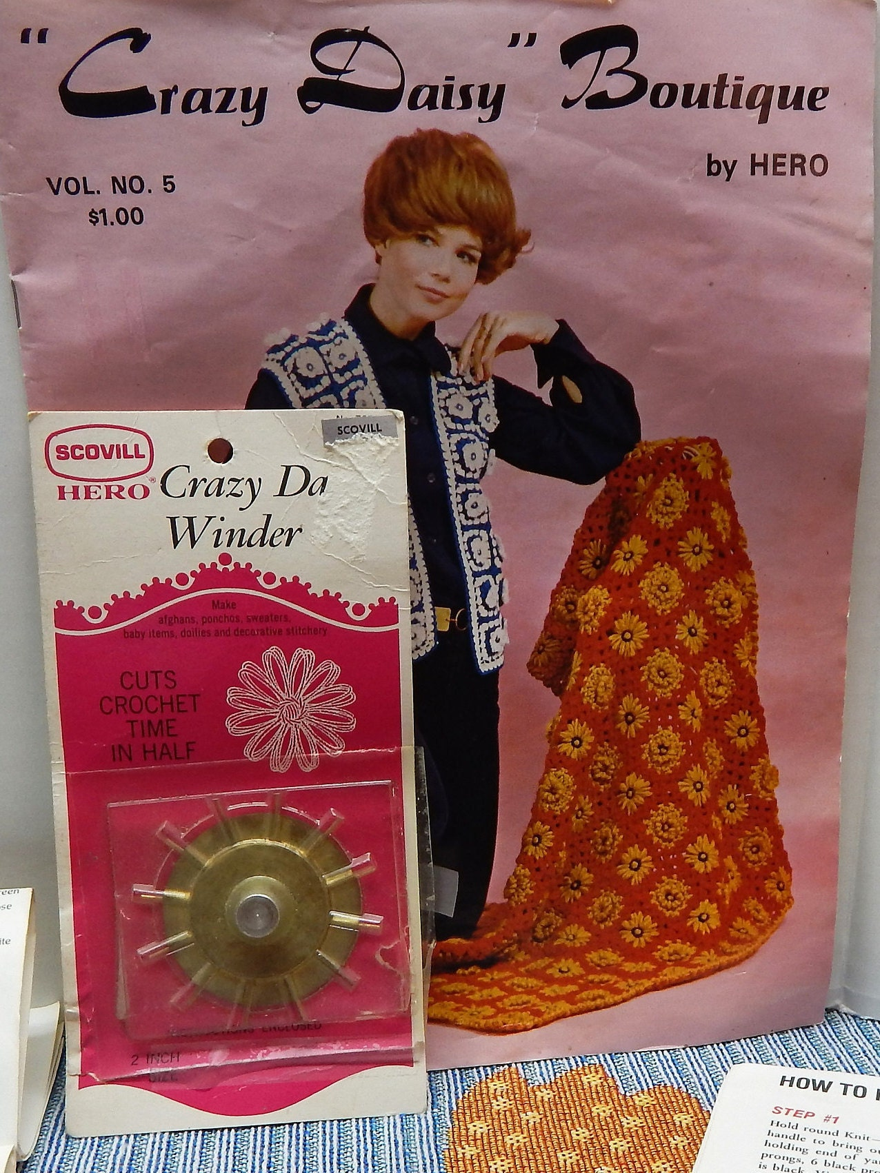 """Crazy Daisy Winder with Pattern Book """"Crazy Daisy Boutique"""" Vol. 5 ..."""