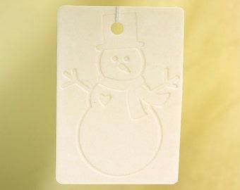 Embossed Snowman Car Air Freshener
