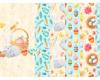Colorful Easter Set of 6 Tabbed Dividers