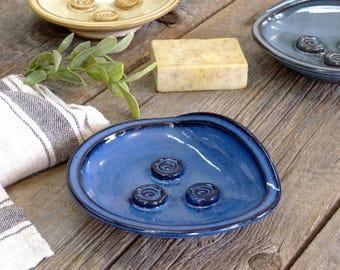 Soap dish – Pottery soap holder, Soap dispenser, Ceramic, Stoneware, Handmade, Wheel thrown