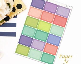 Full Block Planner Stickers/Functional Stickers/ Erin Condren/ Plum Paper/ Inkwell Press/ Happy Planner  #151