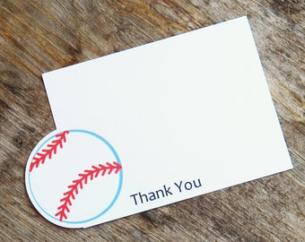 Baseball Friends Party - Set of 8 Baseball Thank You Cards by The Birthday House