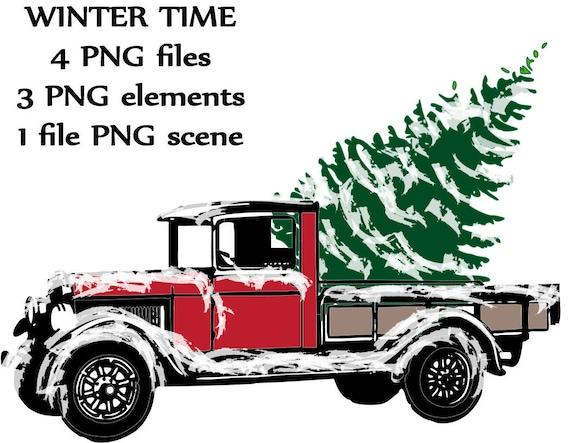 Truck with tree truck clipart truck clip art truck