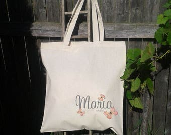 Bridesmaid Tote Bag, Butterfly Tote Bag, Wedding Welcome Tote, Bridesmaid Bag, Personalized Gift Bag