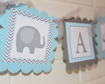 Its a Boy Elephant banner, Elephant baby shower, Its a Boy banner, baby boy banner, baby shower banner, It's a Boy, Baby banner