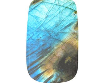 Labradorite Gemstone Crystal Nail Wraps Like Jamberry Fantasy Art Stickers Polish Moonchild Witchy Earthy 24 Piece Full Set Gift for Her