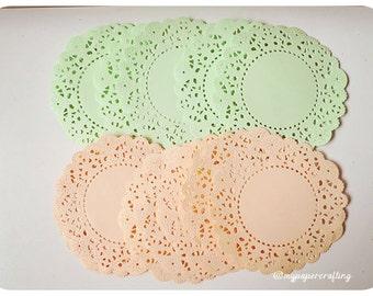 100 peach color paper doilies for wedding decoration/ pack & Peach color paper | Etsy