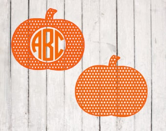 Pumpkin svg| Pumpkin cut file | Monogram svg Files | Silhouette Files | Cricut Files | SVG Cut Files | PNG Files
