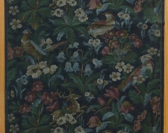 Beautiful Late 19th Century French Exotic Tapestry Wallpaper (2071)