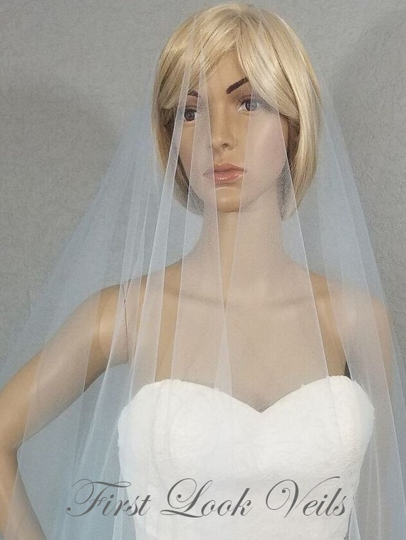 Wedding Veil, Bridal Veil, Cathedral Veil, Light Blue, Drop Veil, Handmade, Bride, Accessory, Gift