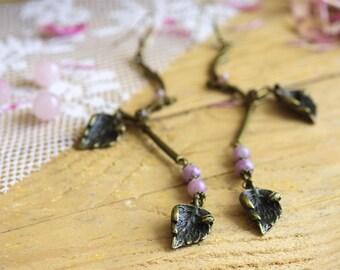 Long earrings for women, Branch jewelry, Bronze earrings, Vintage bronze earrings, Nature jewelry, Bronze women drops, Long bronze earrings