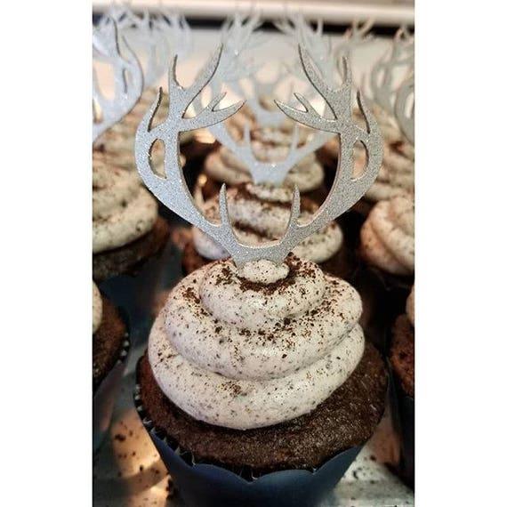 Antler Cupcake Topper, Deer Cupcake Topper, Antler Cake Topper, Deer Head Cupcakes, Antler Cupcake, Deer Cupcake,Redneck Cake, Camo Cake