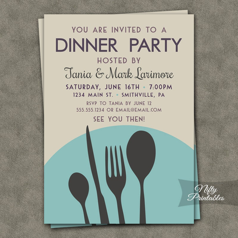 Dinner party invitations printable dinner party invites zoom stopboris Images