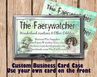 Custom Business Card Case, Personalized Sewing Needle Case, Card Holder