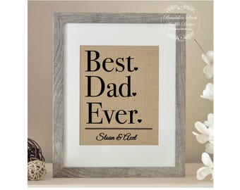 Best Dad Ever Christmas Gift, Gift from Children, Dad Gift, Gift for Christmas, Gift for Father, Burlap Christmas Gift, Gift for New Dad