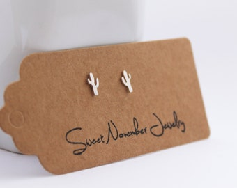 Cactus Studs, Sterling Silver Cactus Earrings, Cactus Jewelry, Southwestern Jewelry,Saguaro Earrings, Saguaro Studs, Cactus Earrings