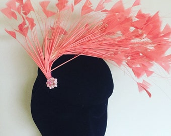Coral fan frathef headpiecd