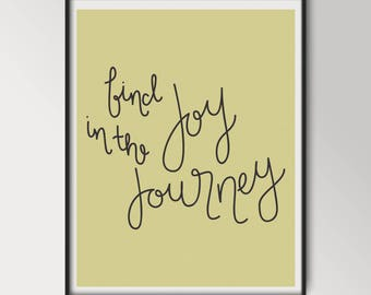 Find Joy in the Journey Art