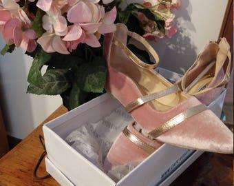 Pink Velvet Dress Shoes