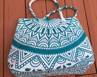 Handmade Tote / Shoulder bag /Shopping Bag /Market Bag,Made from India high quality COTTON  Size W 18,H 14 P#11