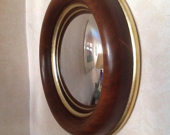 Frame with convex mirror