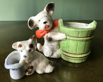 Two Sweet Vintage Made in Japan Terrier Figurines– Can be purchased separately